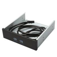 鋁合金 USB 3.0  2埠 機殼 光碟機 前置面板 前置 擴充 面板 擋板19pin