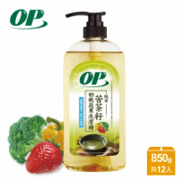 【OP】苦茶籽奶瓶蔬果洗潔精850g(12入/箱-洗碗精)