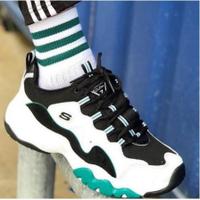 全新Skechers DLites 3.0 白綠 復古運動老爹鞋 999878WGRN 12955WGRN