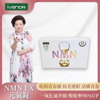 【iVENOR】首創NMN EX版元氣錠1盒-II(30粒/盒 抗老逆齡 修復年輕基因)