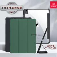 【XUNDD 訊迪】2020 iPad Air 4 10.9吋 軍事筆槽版 鏡頭全包休眠喚醒 磁吸支架平板皮套