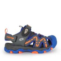 Lotto Lt1aks3386 [LT1AKS3386] 大童鞋 運動 休閒 涼鞋 護趾 戶外 健走 排水 夏天 藍