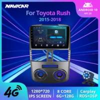 Radio Mobil 2 Din Android 10.0 untuk Toyota Rush RHD 2015-2018 Penerima Stereo Navigasi GPS Radio Otomatis Pemutar Multimedia Mobil IGO