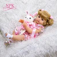NPK 55CM Bebe Boneka Reborn Balita Gadis Boneka Full Body Silikon Lembut Sentuhan Nyata Fleksibel Anatomi Yang Benar