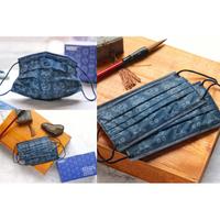 萊潔藍絲綢 盒裝50入  成人平面口罩