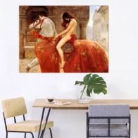 Famous Lady Godiva by John Collie Nude Woman Canvas Painting Print And Poster Picture Wall Art For Living Room Home Decoration