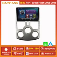 6 + 128G Android 11 Radio Mobil Pemutar Video Multimedia GPS untuk TOYOTA RUSH 2006 - 2016 Navigasi 2DIN Carplay Stereo Otomatis BT Wifi