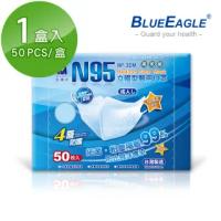 【藍鷹牌】立體型成人醫用口罩 50片x1盒(藍色.綠色.粉色)