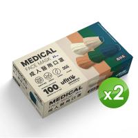 【善存】醫用口罩 未滅菌.雙鋼印-成人平面 森林系(25入/盒x2)