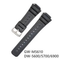 ซิลิโคนสายคล้องคอสำหรับCasio G-SHOCK GW-M5610 DW5600 DW5700 DW6900สมาร์ทนาฬิกากันน้ำนาฬิกาสแตนเลส