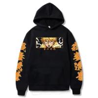 Anime Demon Slayer Kimetsu No Yaiba Hoodie Agatsuma Zen'itsu Sweatshirts Cozy Tops Sweatsuit Sudadera Felpa Moletom