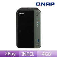 【搭WD 4TB x2】QNAP 威聯通 TS-253D-4G 2Bay 網路儲存伺服器