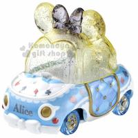 小禮堂 迪士尼 愛麗絲 TOMICA小汽車水晶金龜車《黃藍》珠寶車.公仔.玩具.模型