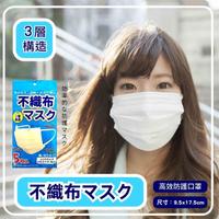 【日本空運進口】高密度結構 三層不織布 成人口罩 x3包(5片/包  口罩 成人口罩 口罩墊片)