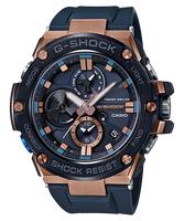 刷卡滿3千回饋5%點數 CASIO G-SHOCK GST-B100G-2A BLUETOOTH®藍牙雙顯電子錶(黑X古銅金)