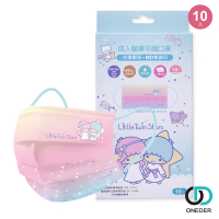 Sanrio 雙子星口罩 聚泰一般醫療口罩10入組 台灣製 (未滅菌) TS-BZ002【ONEDER旺達】