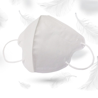 成人3D醫用口罩(潔淨白)細耳帶-30入 /單片包裝