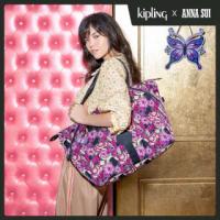 【KIPLING】Kipling x ANNA SUI 浪漫向日葵圖騰手提側背包-ART M