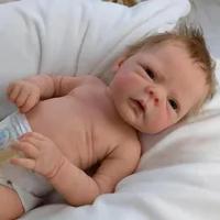 Reborn Boneka Bayi 18Inch Buatan Tangan Baru Lahir Boneka Full Body Silikon Boneka Realistis Manusia Hidup Balita Bayi Mainan Anak Hadiah untuk usia