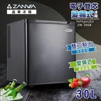 【ZANWA 晶華】30L 電子雙核芯變頻右開式單門冰箱/冷藏箱/小冰箱(ZW-30SB極致黑)