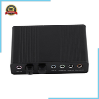 【最佳價格】音頻輸出適配器外部聲卡 6 通道 5.1 Spdif Usb 光卡
