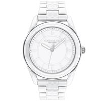 【COACH】優雅質感陶瓷腕錶-38mm/白(14503771)