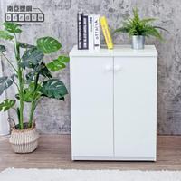 【南亞塑鋼】防水2.1尺二門塑鋼收納櫃/窗邊置物櫃/組合櫃(白色)