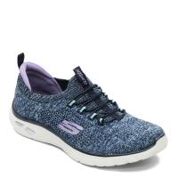 SKECHERS【149007NVAQ】EmpireD'lux 健走鞋 編織襪套 記憶軟墊 雪花藍 女生尺寸
