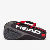 【H.Y SPORT】HEAD Elite Combi 6支裝 球拍袋-紅黑 283739