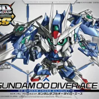 Bandai Gundam SD GUNDAM CROSS SILHOUETTE GUNDAM 00 DIVER ACE Mobile Suit Assemble Model Kits Action Figures Children's toys