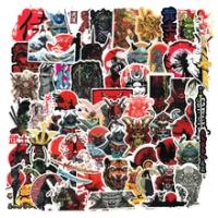 65Pcs ญี่ปุ่น Bushidou นักรบสติกเกอร์สำหรับแล็ปท็อป PVC สติกเกอร์ Graffiti Decal กระเป๋าเดินทางกระเป๋าเดินทางก...