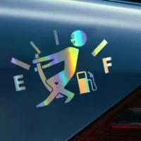 Car Vinyl Sticker 3d 13*9.5cm High Gas Consumption Decal Fuel Gage Empty Sticker on Car Fully Reflective Funny Car Decoration