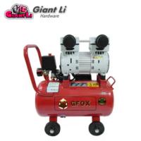 【GFOX】快速型無油式雙缸空壓機-3HP/25L/110V/60Hz/紅色款(加贈風管+噴槍)