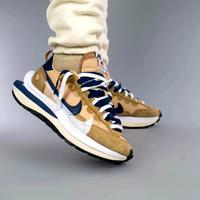 免運 2021新款 最新配色 Sacai x Nike VaporWaffle 3.0 棕藍 雙鉤 DD1875-200