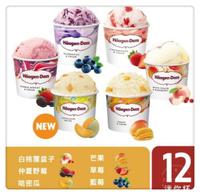 💕宅配免運💕哈根達斯 冰淇淋  迷你杯12入(100ml)[FIFI SHOP]