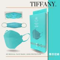 【久富餘】KF94韓版4層立體成人醫療口罩-雙鋼印-Tiffany綠(10片/盒)