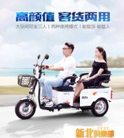 電動三輪車成人新款代步車家用小型帶棚老人電瓶車接送孩子