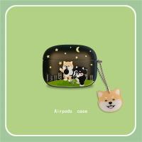 可愛二哈柴犬AirPods Pro保護套適用AirPods1/2代藍牙耳機軟殼女