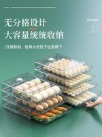 冰箱收納盒 餃子盒專用食品級抽屜式水餃餛飩冰箱收納盒子包子冷凍盒子保鮮盒ab7234
