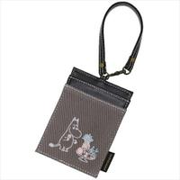 嚕嚕咪 票卡套 證件套 悠遊卡套 票卡夾 深色 皮革 附 掛繩 Moomin 姆明 日貨 正版 授權 J00030167