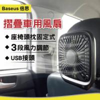 【新翊】倍思折疊車用後座風扇(桌面風扇、電風扇、USB風扇、汽車風扇、摺疊風扇)