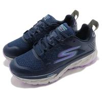 【SKECHERS】戶外鞋 Go Trail Ultra 4 女鞋 野跑鞋 防水 輕量 回彈 避震 穩定 藍 紫(172030NVLV)