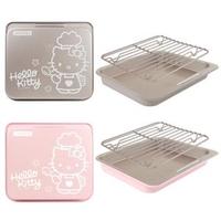 【學廚CHEF MADE】Hello Kitty 9.5吋不沾烤盤(附烤架)兩色任選(氣炸烤箱專用)