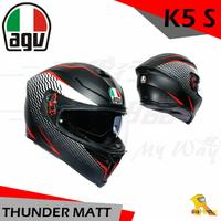 任我行騎士部品 AGV K5S THUNDER 消光黑白紅 亞洲版 全罩 安全帽 玻璃纖維 內墨片 除霧片