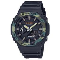 【CASIO 卡西歐】卡西歐G-SHOCK 農家橡樹電子錶-黑(GA-2100SU-1A)