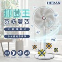 【HERAN 禾聯】14吋DC-光觸媒+奈米銀 雙效抑菌電風扇(HDF-14SH71G)