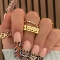 สแตนเลส Birth ปีแหวนผู้หญิงผู้ชาย1997 1998 1999ทองแหวน Gothic Vintage เครื่องประดับ Anillos Mujer