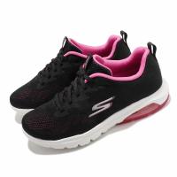 【SKECHERS】休閒鞋 Go Walk Air 健走 女鞋 郊遊 戶外活動 氣墊 避震 緩衝 黑 粉(16098BKHP)