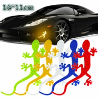 Car Reflective Strips Safety Warning Mark Auto Decor Gecko Reflective Strip Tape Bumper Car Sticker Car-styling