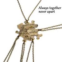 5 Pcs/1Set Saling Jigsaw Puzzle Liontin Kalung Teman Terbaik Persahabatan